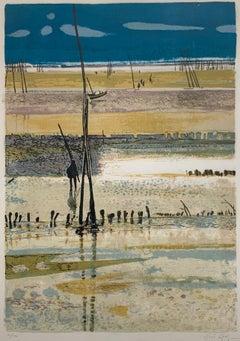 La Plage, Arcachon, Marée basse. (French beach landscape)
