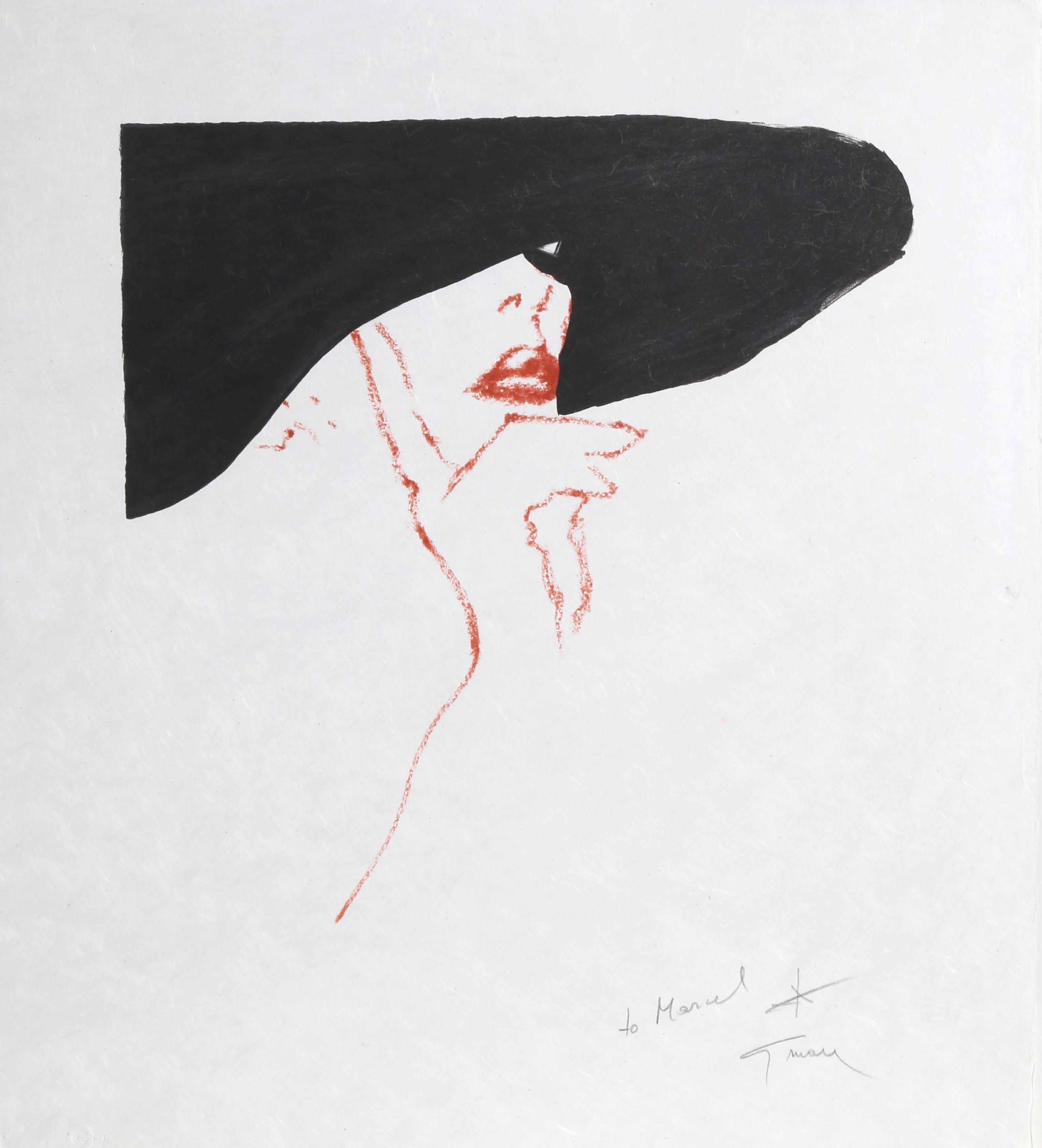Esquisse de Brigit, Signed Lithograph by Rene Gruau