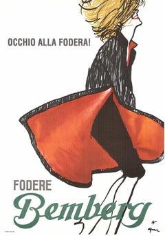 Fodere Bemberg original Italian fashion poster