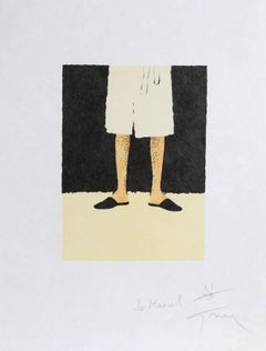 Legs, Signed Lithograph by Rene Gruau