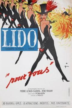 """Lido, Pour Vous"" Lithograph Poster by Rene Gruau"