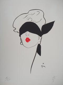 Red Kiss - Original lithograph, Handsigned (Mourlot)