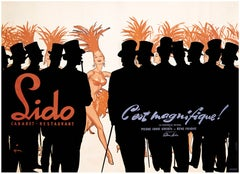 René GRUAU - LIDO - It's Beautiful - 1956