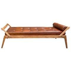 René-Jean Caillette Leather Daybed Charron Edition