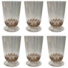 René Lalique 6 Glass Pouilly
