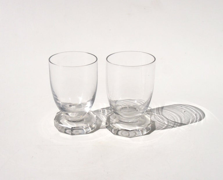 René Lalique French Art Deco Set of Six Lille Liqueur Glasses, 1930s In Good Condition For Sale In London, GB