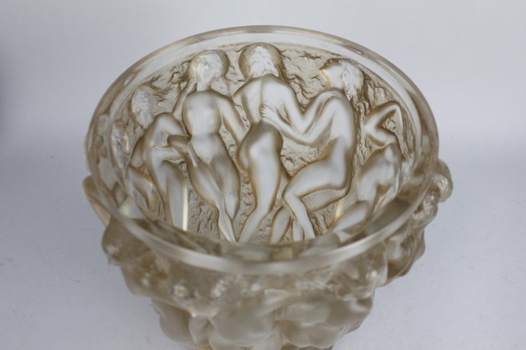 René Lalique Bacchantes Vase, Sepia Stained For Sale 6