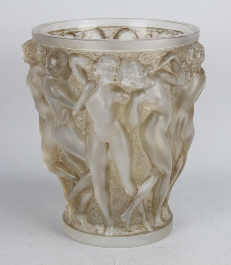 René Lalique Bacchantes Vase, Sepia Stained For Sale 8