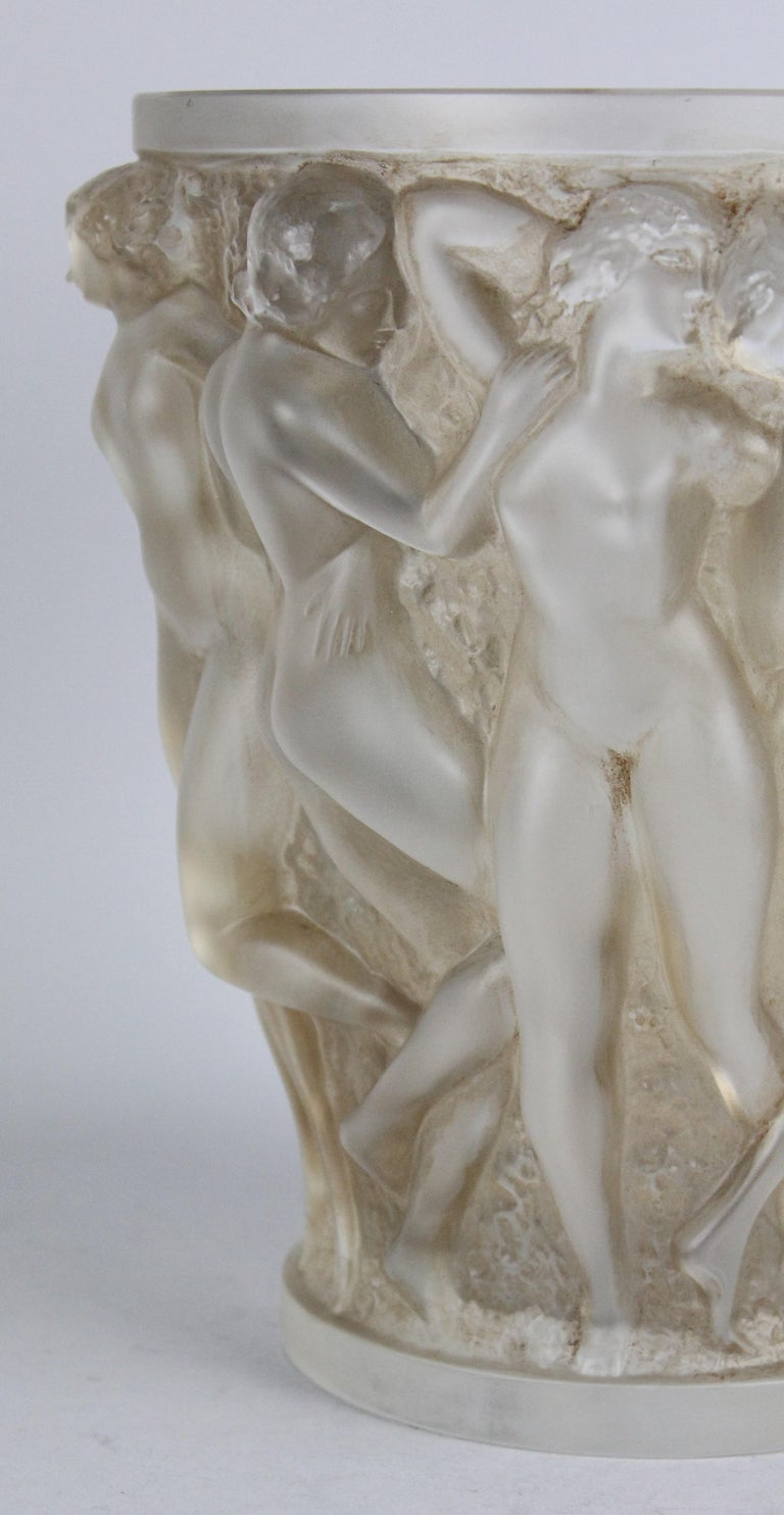 René Lalique Bacchantes Vase, Sepia Stained For Sale 12
