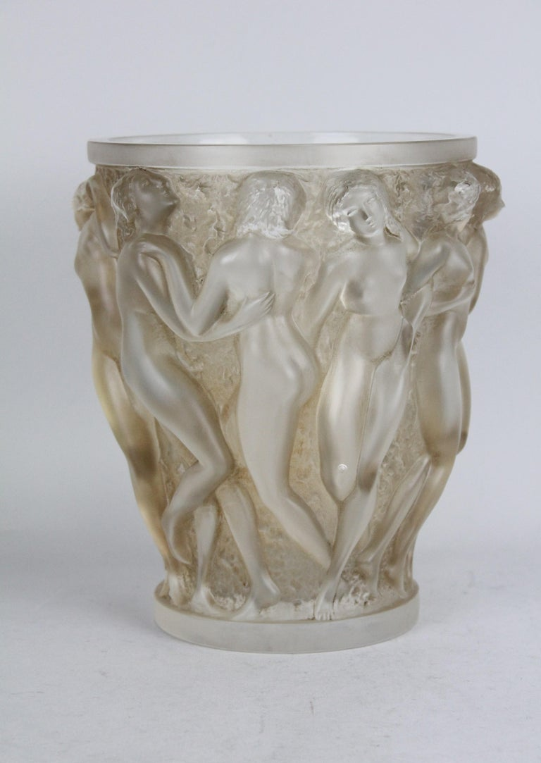 René Lalique Bacchantes vase, design 1927.