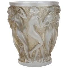 René Lalique Bacchantes Vase, Sepia Stained