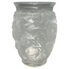 "René Lalique ""Bagatelle"" Bird Vase Crystal Glass"