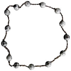 Rene Lalique Black Glass 'Entrelacs' Necklace