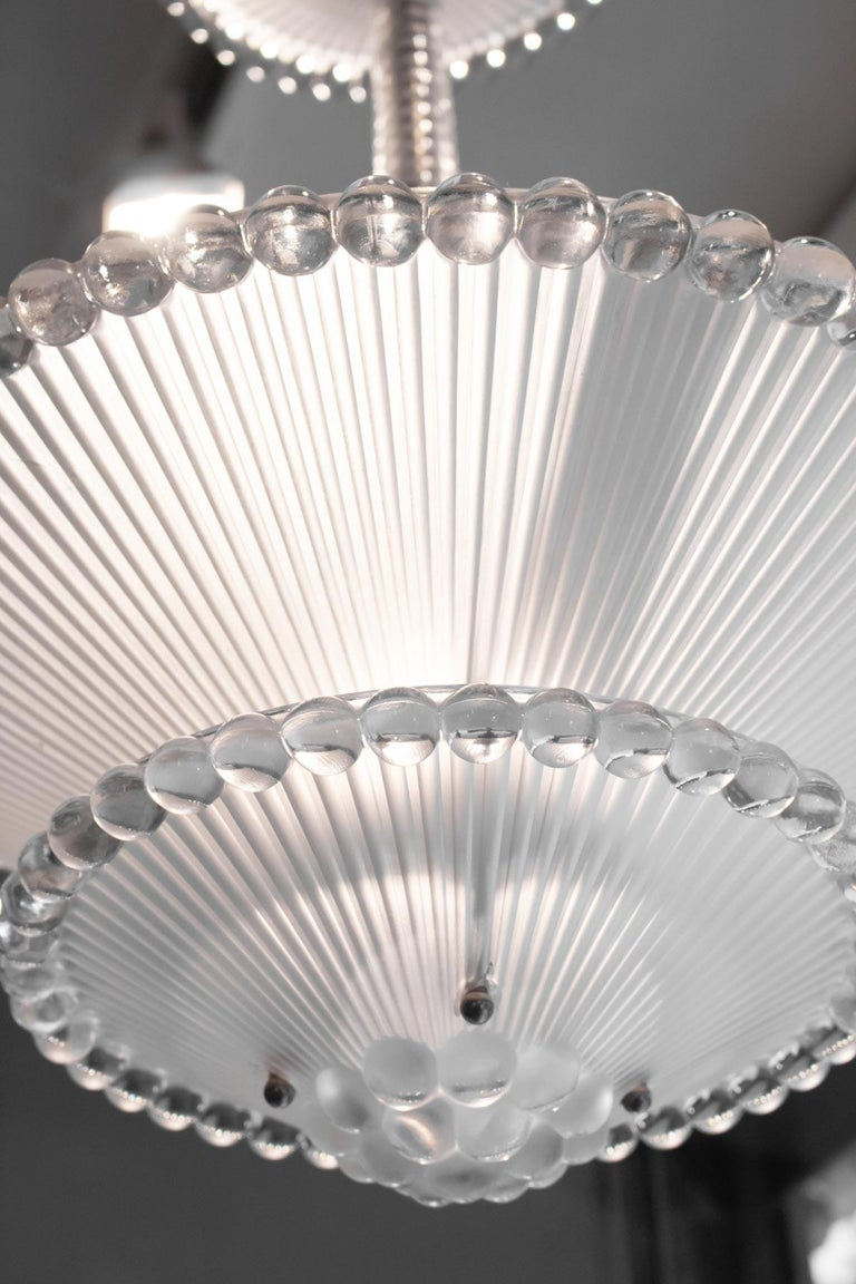 Mid-20th Century Rene Lalique Chandelier Perles For Sale