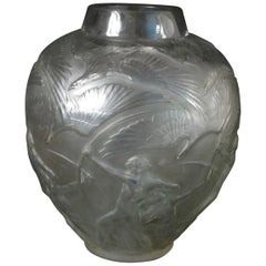 Rene Lalique Clear and Frosted Glass 'Archers' Vase