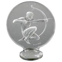 René Lalique Clear Glass 'Archer' Mascot