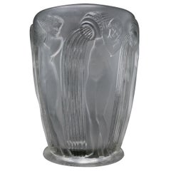 Rene Lalique Clear Glass Danaides Vase