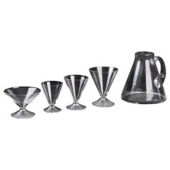 René Lalique Complete Set 49 Pieces Glasses Arbois Water Wine Champagne Madere