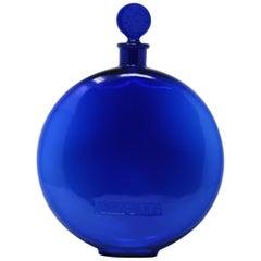 Rene Lalique Glass 'Dans La Nuit' Blue Perfume Bottle
