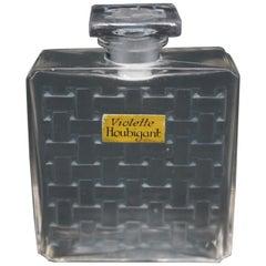 Rene Lalique Glass 'Houbigant, Violette' Perfume Bottle