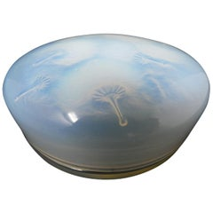 Rene Lalique Glass Opalescent 'Houppes' Box