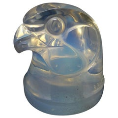 Rene Lalique Glass Opalescent Tete d'epervier Falcon Mascot