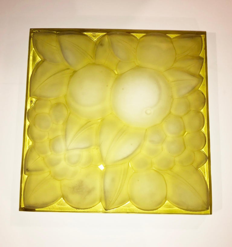 French Rene Lalique Glass Panel