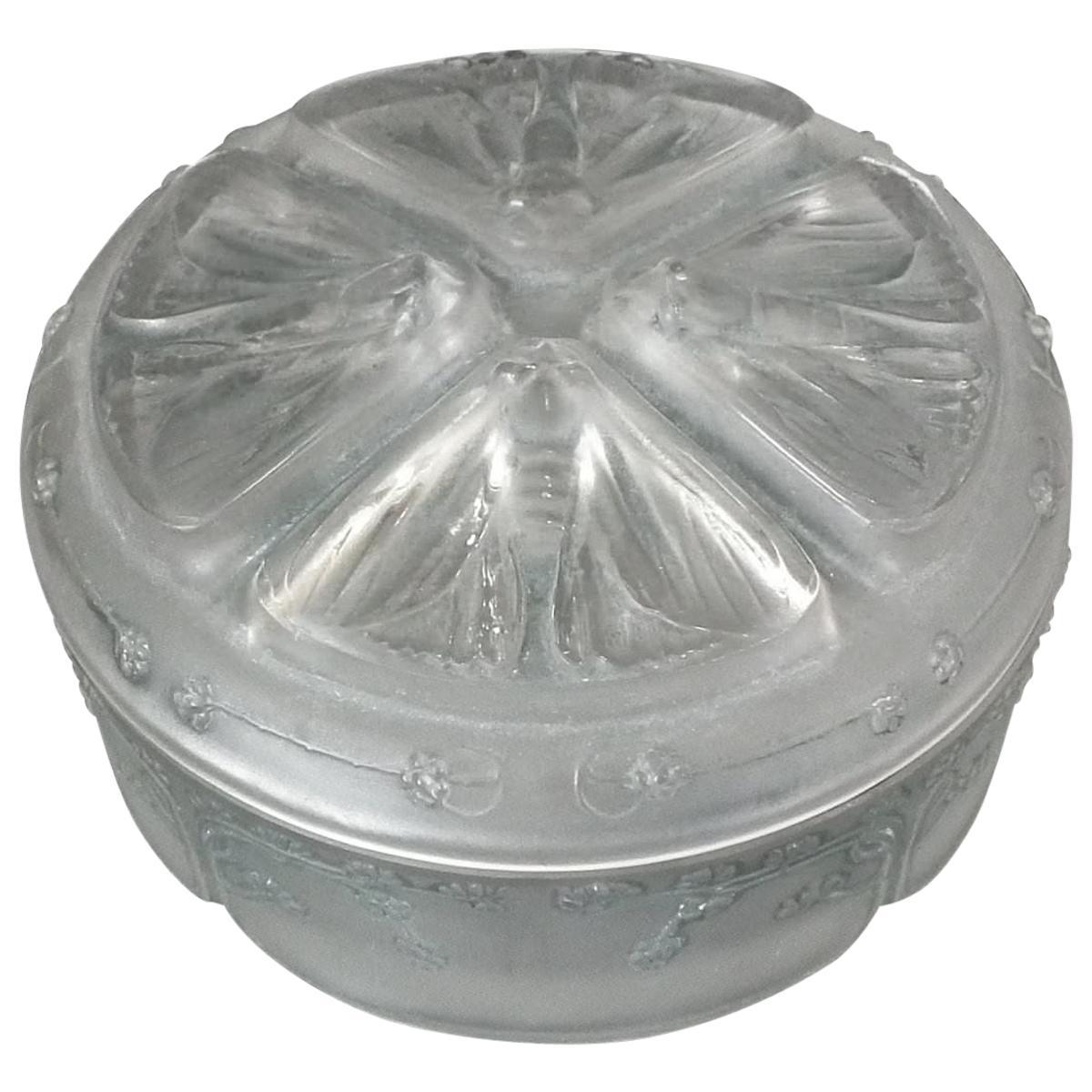 Rene Lalique Glass 'Quatre Papillons' Box