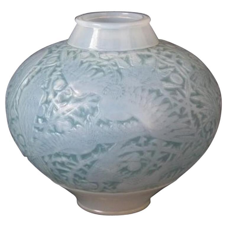 Rene Lalique Opalescent Glass 'Aras' Vase