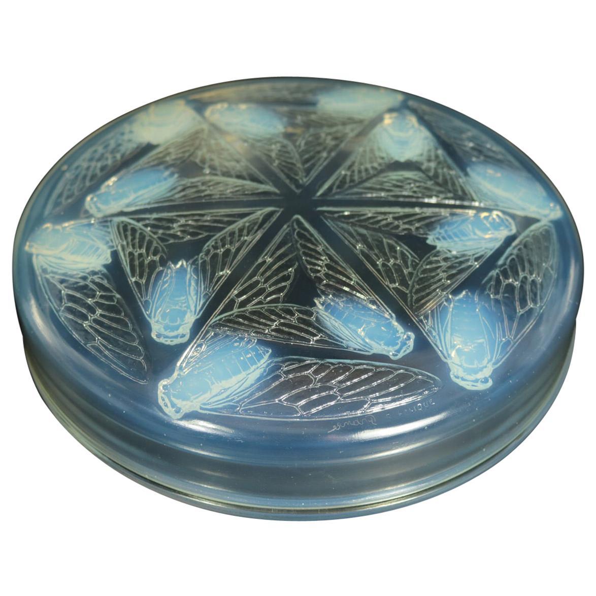 Rene Lalique Opalescent Glass 'Cigales' Box