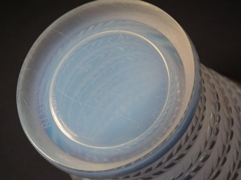 Early 20th Century Rene Lalique Opalescent Glass 'Cytise' Vase For Sale