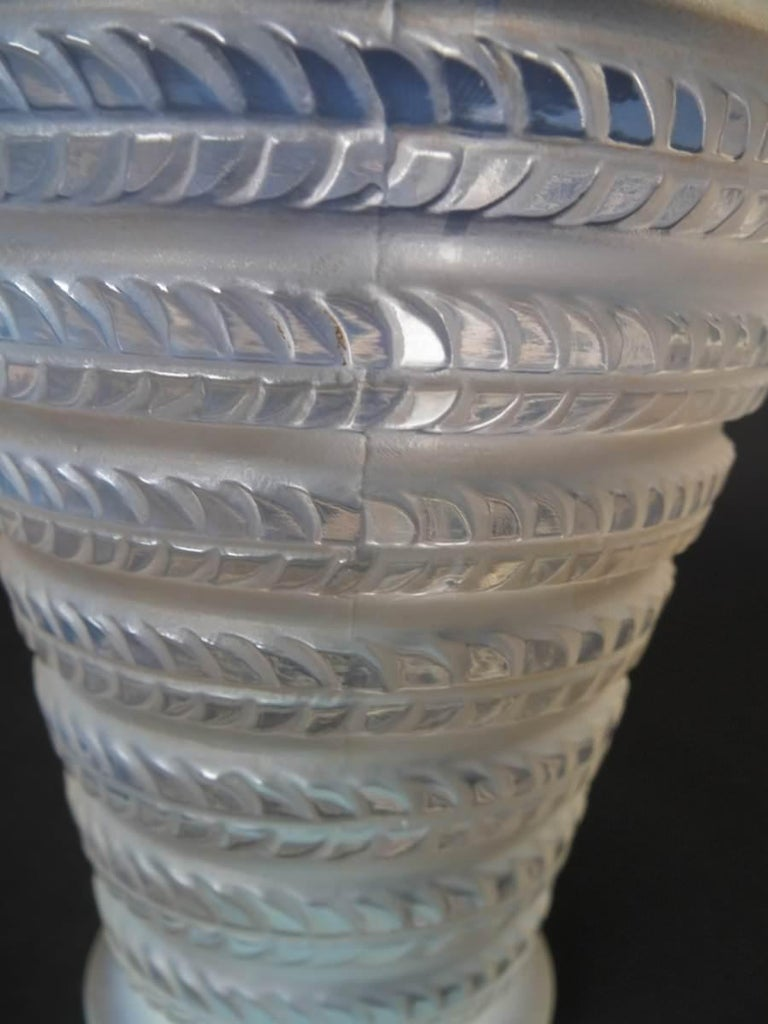 Rene Lalique Opalescent Glass 'Cytise' Vase For Sale 1