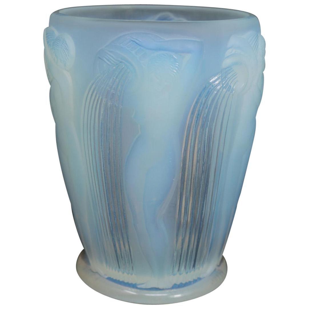 René Lalique Opalescent Glass Danaides Vase