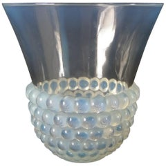 Rene Lalique Opalescent Glass 'Graines' Vase