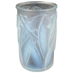 Rene Lalique Opalescent Glass 'Laurier' Vase