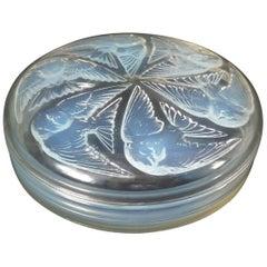 Rene Lalique Opalescent Glass 'Mesanges' Box
