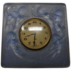 René Lalique Opalescent Glass 'Naiades' Clock