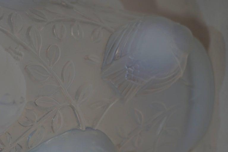 Art Deco Rene Lalique Opalescent Glass Vase For Sale