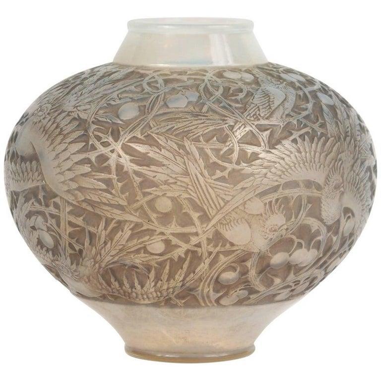 French René Lalique Opalescent Vase