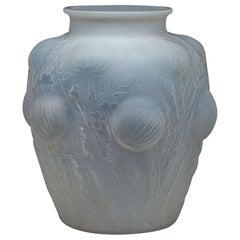 "Rene Lalique Opalescent Vase ""Domremy"""