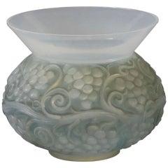 Rene Lalique Opalescent Vase Fontainebleau
