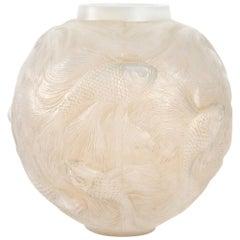 René Lalique Opalescent Vase Formose