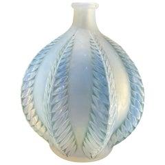 "Rene Lalique Opalescent Vase ""Malines"""