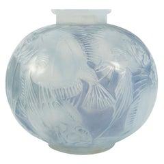 """René Lalique Opalescent Vase """"Poissons"""""""