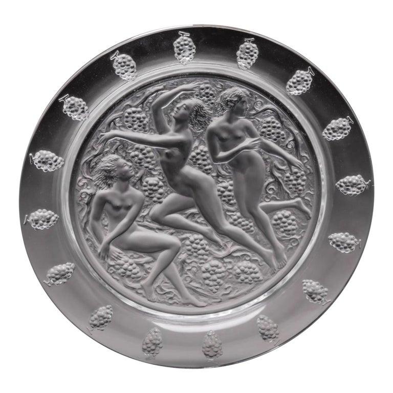 """René Lalique Plat """"Cote d' Or"""" For Sale"""