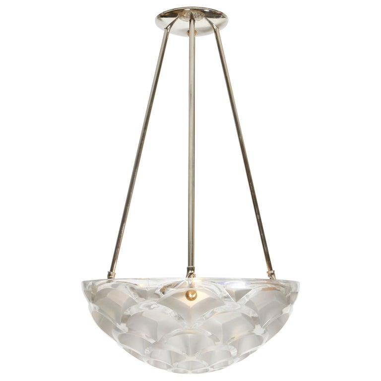 """René Lalique """"Rinceaux"""" Chandelier For Sale"""