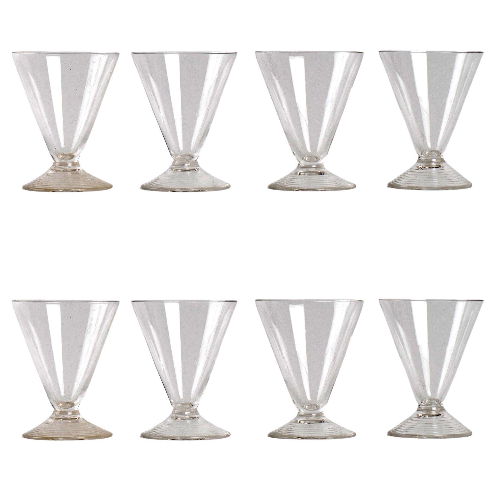 René Lalique Set of 8 Arbois Glasses
