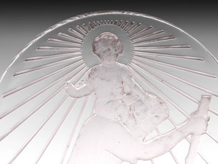 Rene Lalique St Christophe Glass Car Mascot, 20th Century For Sale 1