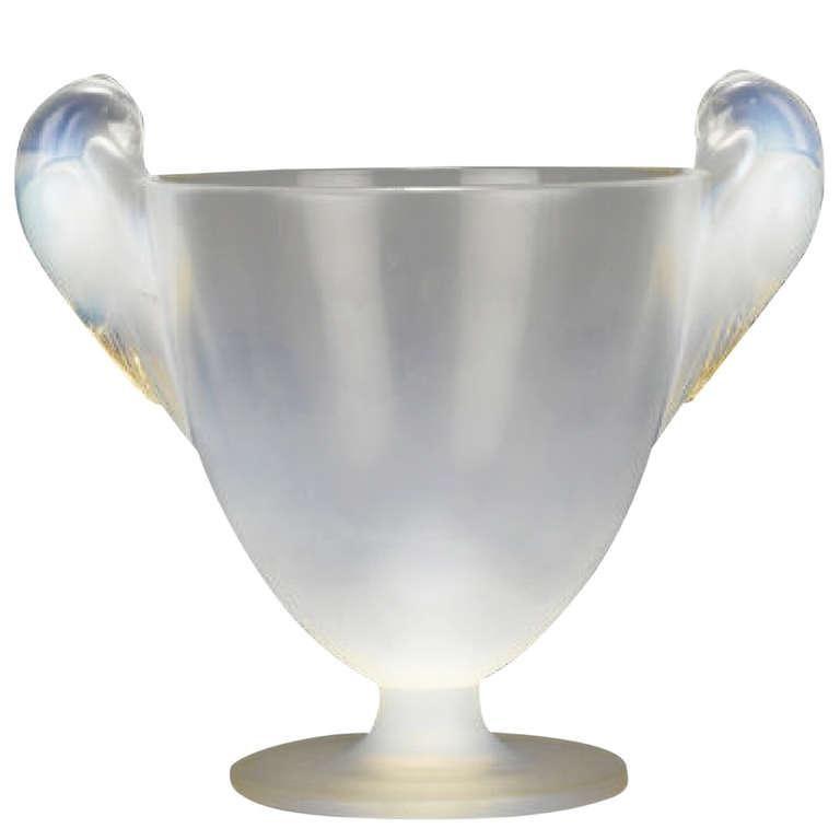 Art Deco René Lalique Two Handled Vase For Sale