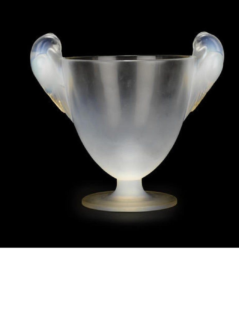 French René Lalique Two Handled Vase For Sale